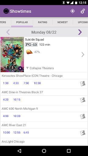 Showtimes (Local Movie Times and Tickets) 2.6 screenshots 2