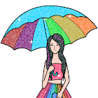 Girls Glitter Color by Number - Fashion Coloring icon