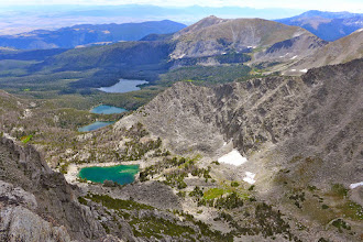 Photo: Hollowtop Lake (most distant of the 4) - Lone Peak near Big Sky on horizon center