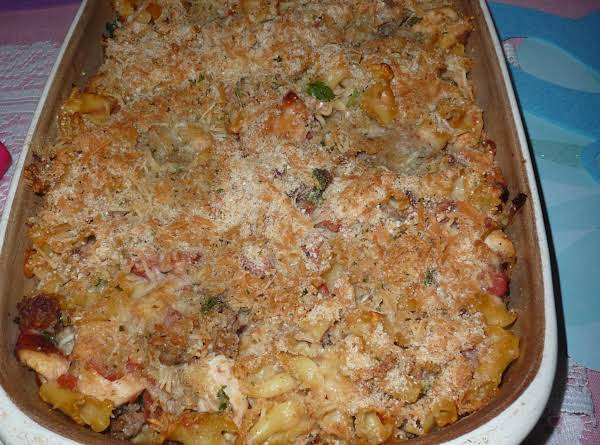 Italian Baked Chicken & Sausage Pastina