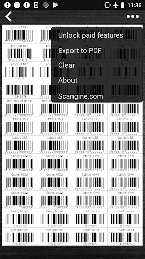 Barcode Maker PDF (generate barcodes & export PDF) screenshot 3