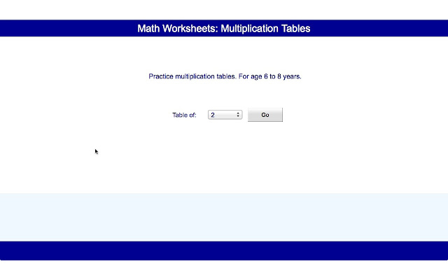 math worksheets  multiplication tables  family  users overview online mathematics worksheets