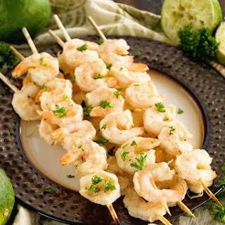 Fiesta Lime Shrimp Kebabs.