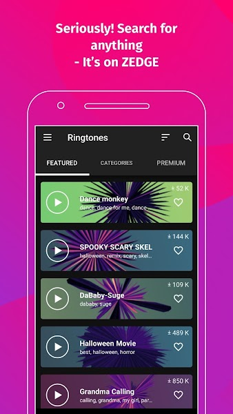 ZEDGE™ Ringtones & Wallpapers Screenshot Image