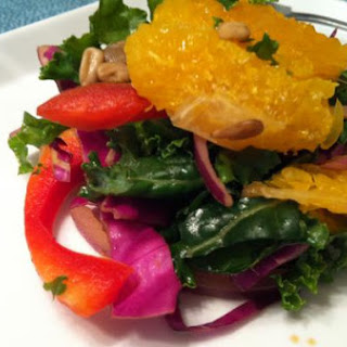 Summer Kale, Orange & Pomegranate Salad with Moscato Dressing
