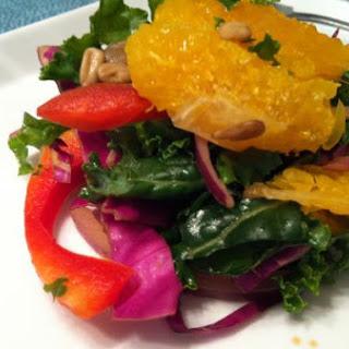 Summer Kale, Orange & Pomegranate Salad with Moscato Dressing