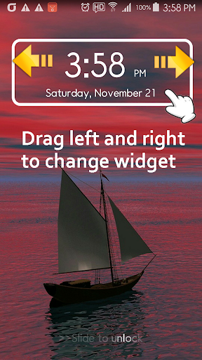 iPhoneのロック画面のスライドロッカー