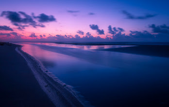 Photo: Cotton Candy Sunrise The Texas coast at the Gulf of Mexico.