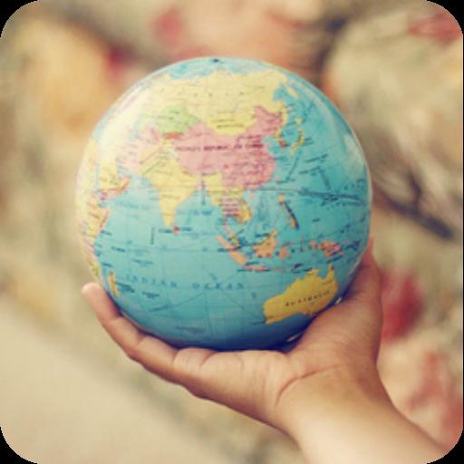 工具の世界地図の3D LOGO-記事Game