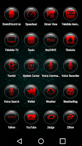 Brenn Red - Icon Pack screenshot 5