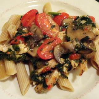 Chicken Margherita w/ Sun-Dried Tomato Vinaigrette
