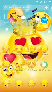 Emoji Crazy Smile Cute Theme& HD wallpapers - náhled