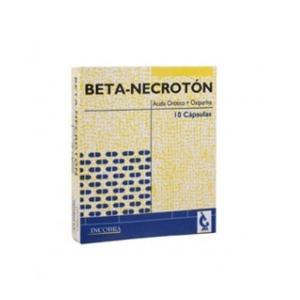 Beta-Necrotón Cápsulas   Caja x10Cap. Incobra Ácido Orótico Oxipurina