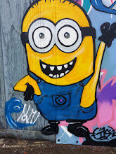 Photo: Minion. Wellington Street hoarding