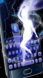 Electric Girl Keyboard Theme - náhled