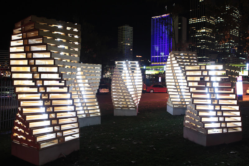 Photo: Palette of Urban Green at Vivid Sydney 2012
