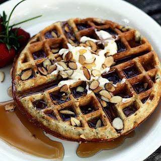 Almond Poppyseed Waffles Recipe