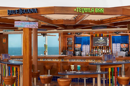 carnival-panorama-BlueIguana-Tequila-Bar.jpg - Ready for tropical weather and a slushy tequila drink? Hang with your friends at the BlueIguana Tequila Bar aboard Carnival Panorama.