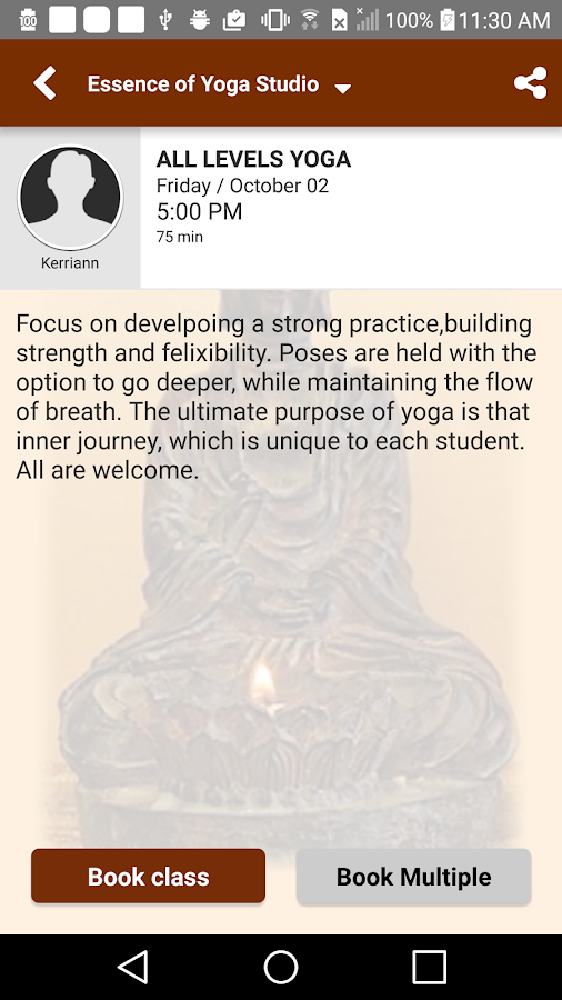 Essence of Yoga Studio- screenshot