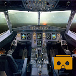 VR Airplane Cockpit Takeoff Icon