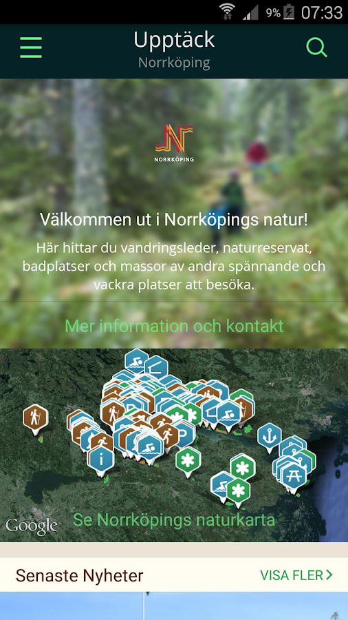 Norrköpings Naturkarta- screenshot