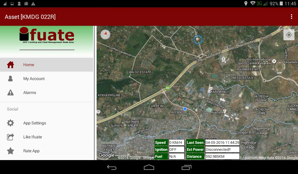 Ifuate GPS Tracking- screenshot