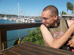 Photo: Hamilton Island, il pappagallo e mio fratello