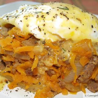Sweet Potato & Sausage Hash Benedict
