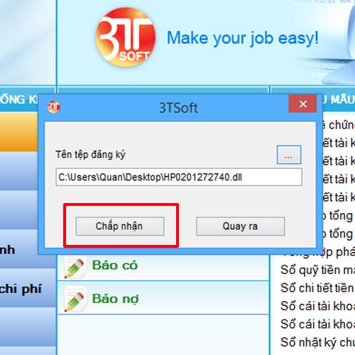 Đăng ký sử dụng phần mềm kế toán 3tsoft
