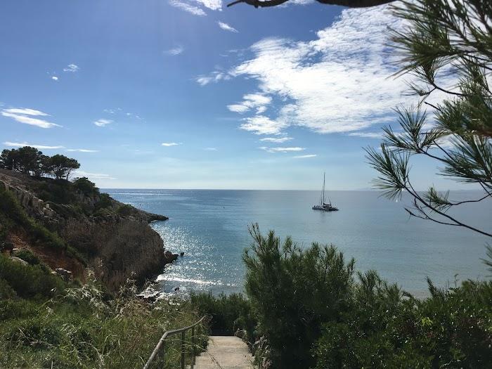 Cabo de Salou, boven Cala Penya Tallada