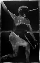 "Photo: © Olivier Perrot photogrammes série ""Combats"" 1997 Format 2 100 x 92 cm"