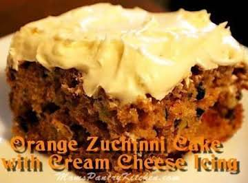 Orange Zucchini Cake with Orange Cream Cheese Icin