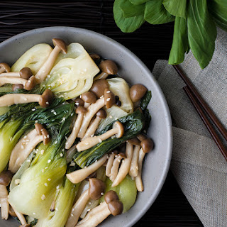 Baby Bok Choy with Beech Mushrooms
