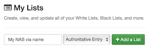Create an authoritative list