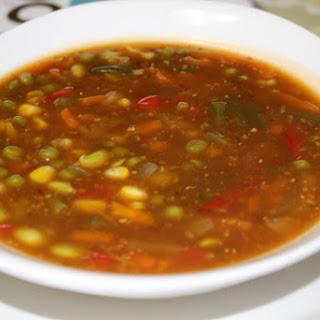Chinese Chili Veg Soup