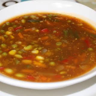 Chinese Chili Veg Soup.