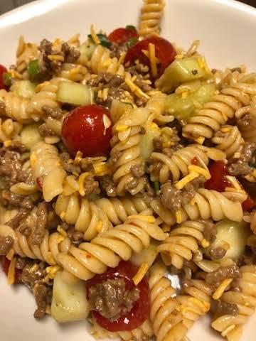 Taco Italian Veggie pasta salad