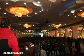 Photo: March 8, 2012- Kabul: A member of the Solidarity Party of Afghanistan was presenter of the function.