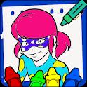 LadyBug Mira Coloring Book icon