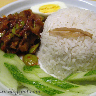 Coconut Milk Rice with Anchovies Sambal Recipe