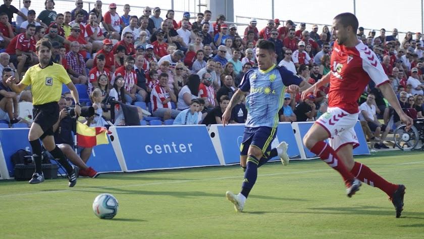 Gaspar en el amistoso ante el Murcia en la pretemporada.