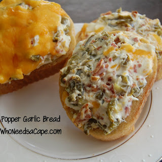 Jalapeno Popper Garlic Bread