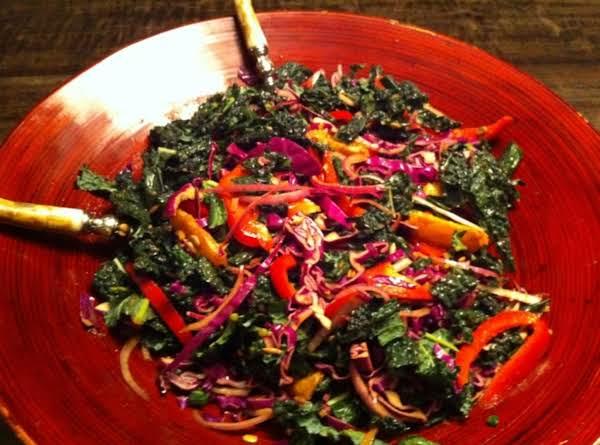 Rainbow Kale Slaw Recipe