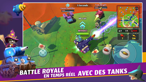 Télécharger PvPets: Tank Battle Royale  APK MOD (Astuce) screenshots 1