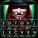 Anonymous Man Smile Keyboard Theme icon