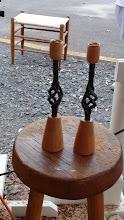 Photo: Blacksmith and MCW collaboration effort - Candlesticks raffled off by Blacksmiths