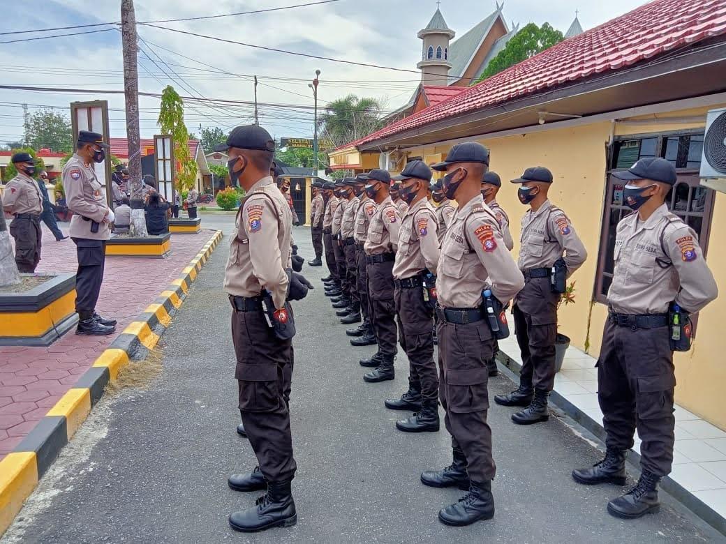 Kasat Binmas Polres Kobar Berikan Arahan Dan Motivasi Kepada Siswa Seba SPN Polda Kalteng T.A. 2020 / 2021