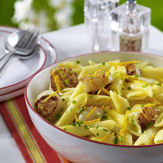Penne with Orange-Flavored Scallops