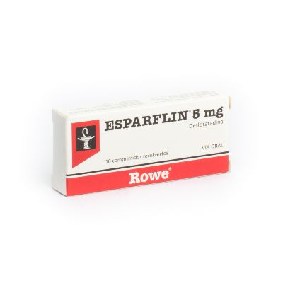 Desloratadina Esparflin 5 mg x 10 Tabletas Rowe 5 mg x 10 Tabletas
