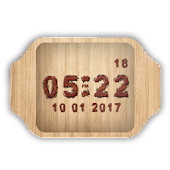 Wood Clock Live Wallpaper